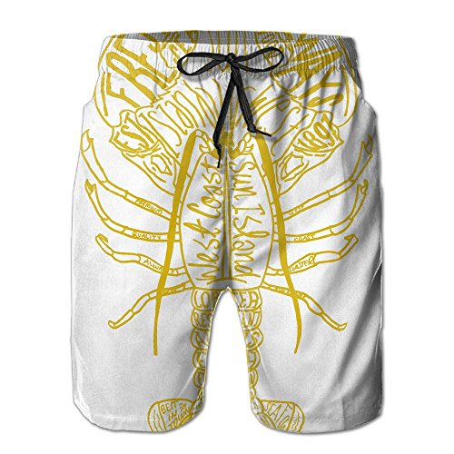 Hailin Tattoo Lobster Designed Art Men's Pants With Pocket&Elastic Rope Suitable For Both Beach And Home Best Choice For - Men Van Dries Sale Noten