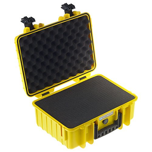 B&W International 4000/Y/SI 4000 Outdoor Case with SI Foam Durable Type, Yellow