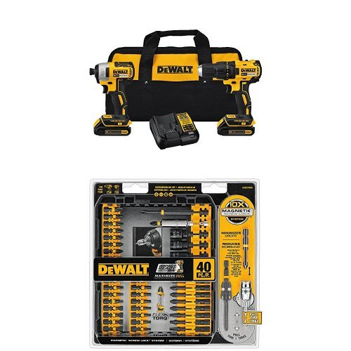 DEWALT DCK277C2 20V MAX Compact Brushless Drill and Impact
