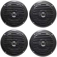 (4) Rockville MS525B 5.25 800 Watt Waterproof Marine Boat Speakers 2-Way Black