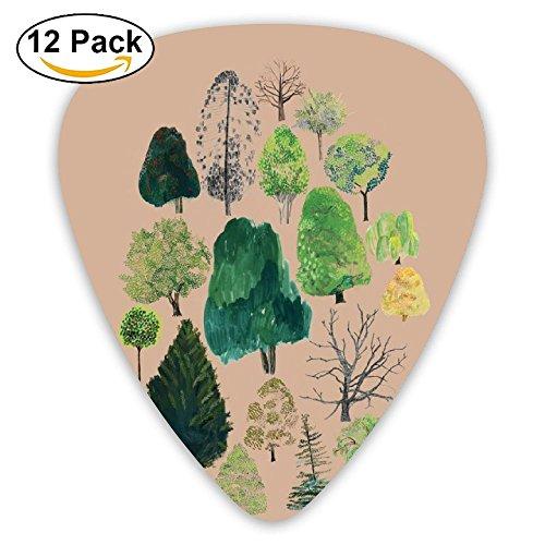 Guitar Picks Celebrate Arbor Day Medium Customized Complete Assorted 12 Pack - Arbor Bass