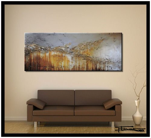 Extra Large Modern Abstract Canvas Wall Art. Limited Edition, Hand Embellished Giclee on Canvas, HUGE! 60 x 24 x 1.5 Ready to Hang! ''ENGAGING GRACE'' by ELOISE WORLD STUDIO - ELOISExxx