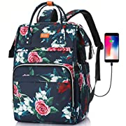 Women Laptop Backpack,Water Repellent School Backpack with 15.6 in Laptop Compartment and Anti-theft Pocket,Compuer Bag…