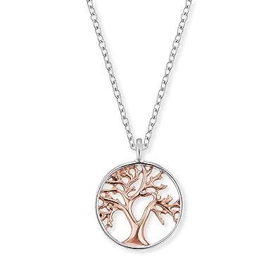 3706d561b19d Engelsrufer árbol de vida collar colgante para las mujeres bicolor rodio y  oro rosa chapado en