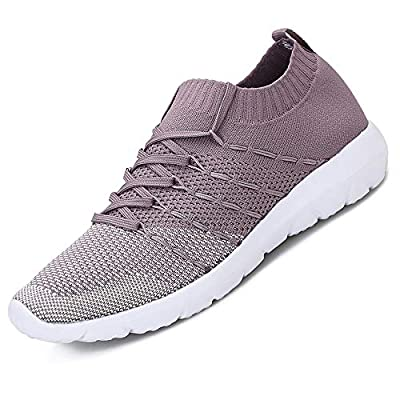 Pt&Hq Women's Athletic Walking Shoes, Breathable Mesh Slip On Sneakers,Lightweight Casual No-Slip Running Shoes