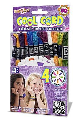 Janlynn Cool Cord Friendship Bracelet Pack, Makes 50 Bracelets