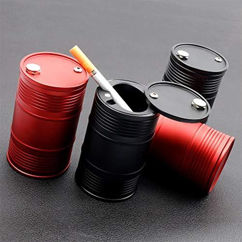 Aluminio Coche Sin humo Cenicero Indicador Viaje Auto Cigarrillo Removedor de olor Humo Difusor Soporte Cilindro