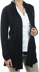 62133597230b6f Balldiri 100% Cashmere Kaschmir Damen Strickjacke feminin 2-fädig schwarz