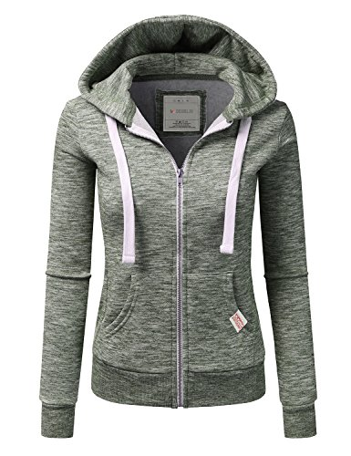 Doublju Lightweight Zip Up Hoodie Jacket product image