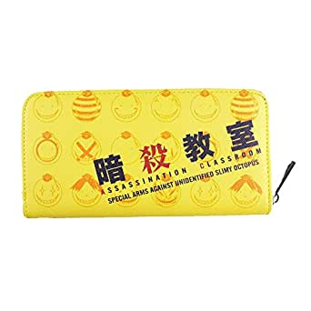 Createreedo Long Zipper Burse Crossgrain Leather Wallet Purse (Assassination Classroom)