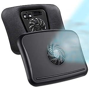 KLIM Comfort + Refroidisseur PC Portable + Protégez-Vous et Votre PC de la surchauffe + Nouveauté 2021 + Support Ventilé…