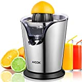 AICOK Citrus Juicer Electric 100W Stainless Steel Citrus Juicer Squeezer Anti-drip, Ultra Quiet Motor Fresh Orange Lemon