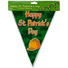 Beistle 30520 Happy St. Patrick's Day Pennant Banner, 10-Inch by 12-Feet