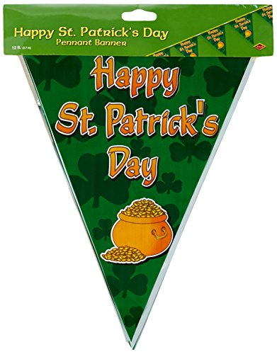 Happy St Patrick's Day Pennant Banner Party Accessory (1 count) (1/Pkg)