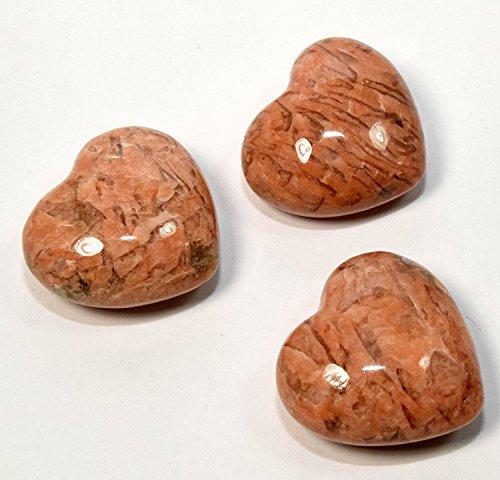 "2"" Natural Peach Moonstone Puffy Heart Sparkling Orange Feldspar Holistic Crystal Quartz Mineral Stone Specimen - India (1PC)"