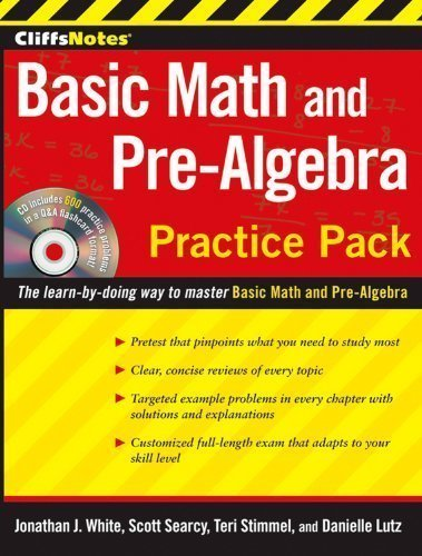Download CliffsNotes Basic Math and Pre-Algebra Practice Pack by Lutz, Danielle Published by Cliffs Notes 2nd (second) edition (2010) Paperback pdf