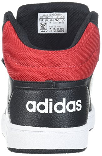 adidas Kids' Hoops Mid 2.0, Core BlackWhiteScarlet, 8 M US