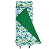 Wildkin Original Nap Mat, Features Built-In Blanket and Pillow, Perfect for Daycare and Preschool or Napping On-the-Go – Dinomite Dinosaurs