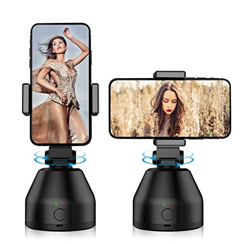 Powerextra Face Auto Tracking Phone Holder Selfie Sticks 360° Rotation Smart Shooting Mount Sturdy Vlog Holder Smart Tracking Holder for iPhone Android Camera