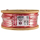 Vertical Cable Fire Alarm Cable, 18 AWG, 2 Conductor, Solid, Shielded, FPLR (Riser), 1000ft Spool, Red – Made in USA