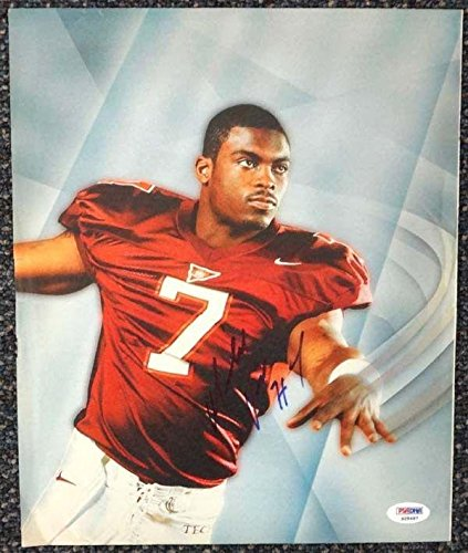 Michael Vick Autographed Signed Magazine Page Photo Virginia Tech S28487 PSA/DNA Certified Autographed College Magazines
