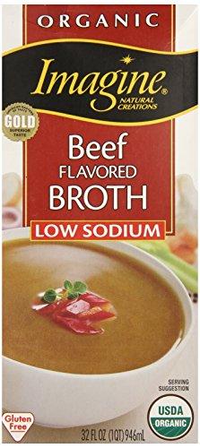 Imagine Organic Beef Broth, Low Sodium, 32 Ounce