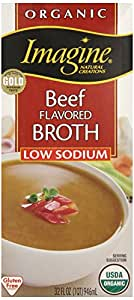 Imagine Organic Beef Broth, Low Sodium, 32 Ounce