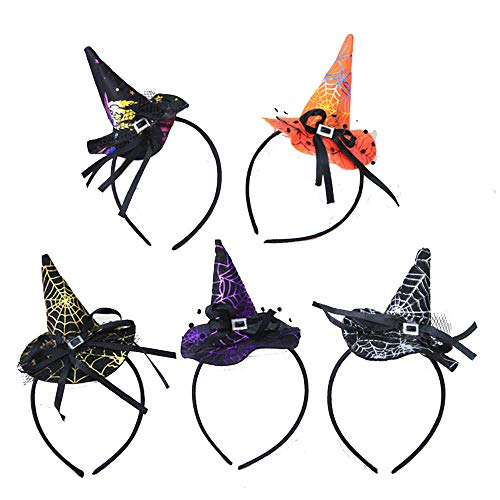 Frealm Halloween Headwear 5pcs Adult Party Hairbands Kids Headbands for Costumes Fancy Party Cosplay