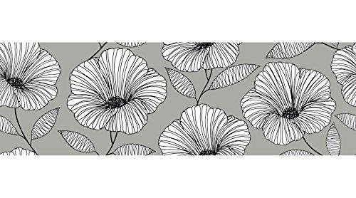 Wall Pops WPSS1985 Moon Flower Stair Stripe Decal, Grey