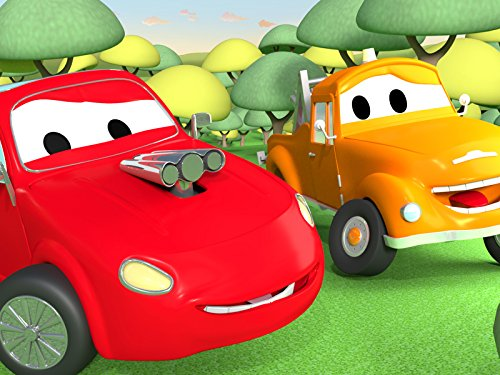 Jerry the Red Racing Car and Tom the Tow - Deluxe Red Truck Tow