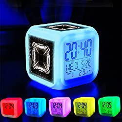 Alarm Clock 7 LED Color Changing Wake Up Bedroom with Data and Temperature Display (Changable Color) Customize the pattern-449.Free stock photo of eiffel tower, france, landmark, paris