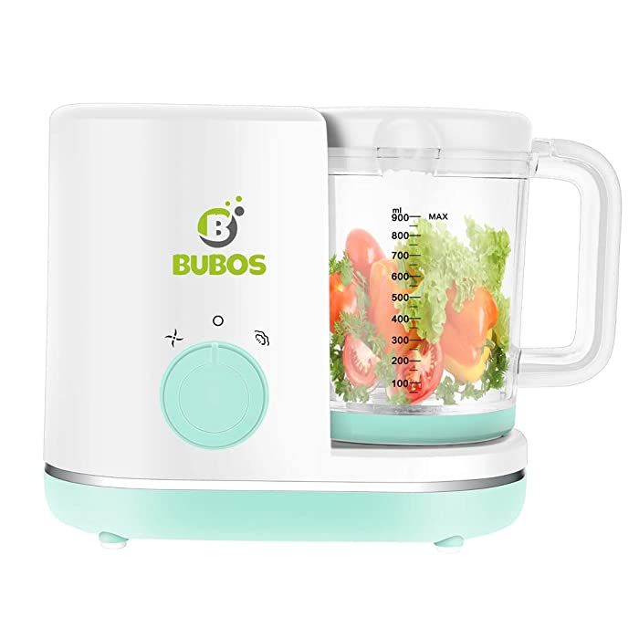 Bubos 5-in-1 Smart Baby Food Maker with Steam Cooker, Blender, Chopper, Sterilizer & Warmer for Organic Food Cooking, Pureeing & Reheating - BPA Free Food Processor