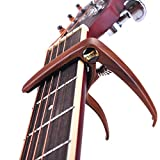 WOGOD Guitar Capo for Acoustic Electric Guitars Ukulele Banjo Mandolin Bass, Ultra Lightweight String Capo ( Redwood Color)