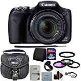 Canon PowerShot SX530 Digital Camera Black + Adapter Ring + 3 Piece Filter Kit + Tulip Lens Hood + 32GB Memory Card + Wallet + Case + Lens Cap Holder + 3pc Cleaning Kit For Sale