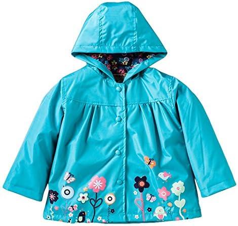 キッズレインコート 女の子のかわいい花防風レインコートの女の子レインコートレインコートグリーン・ブルー子供のジャケットレインコート 適応 防水 防風 雨合羽 小学生 (Size : XL)