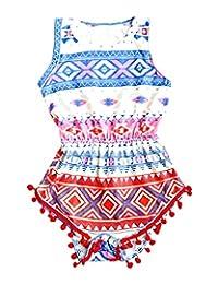 Tootless Kids Girls Sleeveless Bodysuit Romper Jumpsuit Outfits Set