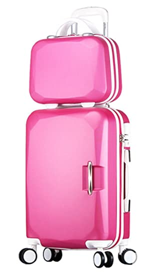 ff36b3856a2a Song Luggage Spinner Luggage ABS Trolley Travel Lightweight Hardshell  Suitcase - 20 Inch Roseo Set