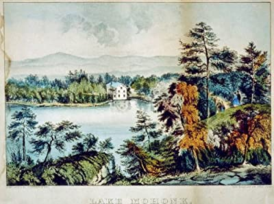 Photo: Lake Mohonk,New Paltz,New York,NY,1856-1907,Currier & Ives,Ulster County