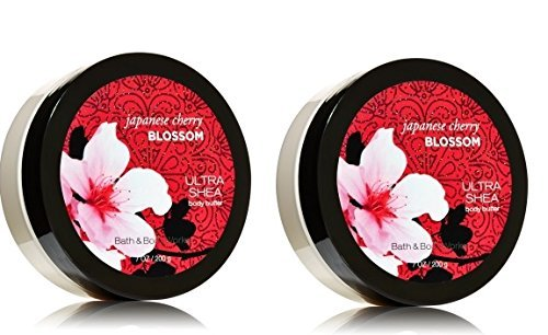 Blossom Body Butter - Bath and Body Works Japanese Cherry Blossom Ultra Shea Body Butter,  7 oz each. - 2 Pack