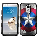 america phone case - LG Aristo Case,LG Aristo 2 Case,LG Rebel 3 LTE Case,LG Aristo 2 Plus/LG Tribute Dynasty/Zone 4/Fortune 2/Phoenix 3/Rebel 2 LTE/K8+ Plus Case, Rugged Case - Captain America #M