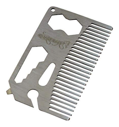 Guardman Stainless Steel Multitool With Beer Bottle Opener & Hair Comb or Beard Comb valentines gifts for him (Find A Gift For Him)