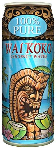 Wai Koko Coconut Water 100% Pure Coconut Water, 17.5 oz, 12 Piece