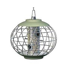 Gardman NC020 The Nuttery Helix Squirrel Resistant Compact Seed Bird Feeder, Celedon Green by Gardman