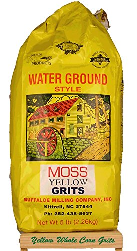 Moss Water Ground Yellow Corn Grits 5 Lbs