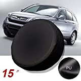 Gplusmotor 15'' black Spare Wheel Tire Cover Covers Fit For All Car Universal