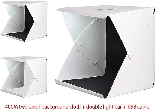 Mini estudio de fotografía plegable,kit de caja de luz portátil ...