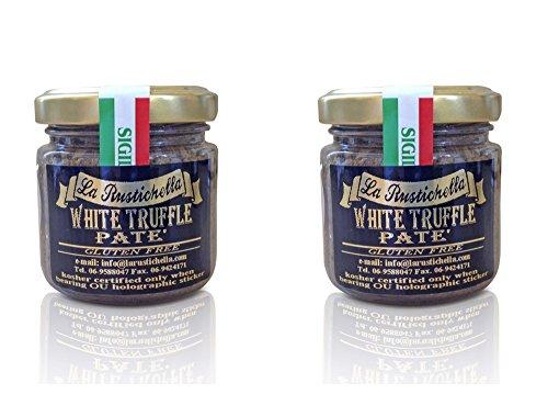 La Rustichella White Truffle Pate Gluten Free Certified Kosher - 3.2 oz - 2 Pack - Certified Kosher OU