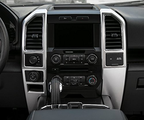 Aspeike ABS Car Central Console Dashborad Air Outlet Vent Panel Cover Trim Interior Decoration Stickers Frame For Ford F150 2015 Up (Matt Silver) from Aspeike