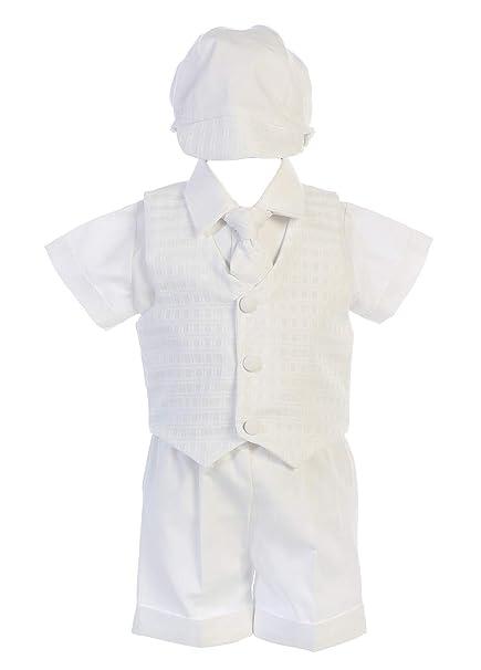 Amazon.com: Gorro de bautizo para bebé, color blanco, para ...
