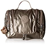 Kipling Connie Hanging Toiletry Bag, Metallic Pewter